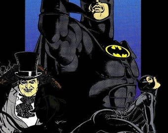 Back to School Sale: BATMAN RETURNS Movie Poster DC Comics Superman Joker
