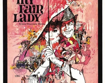 ON SALE NOW: My Fair Lady 1964 Comedy Musical/Drama Movie Poster Audrey Hepburn
