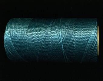 Spool No. 228 Linhasita, 180 meters, Teal waxed thread
