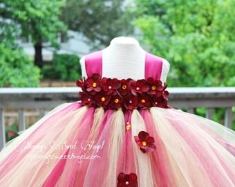 Flower girl tutu dress. Wedding tutu dress. First birthday tutu. Hydrangea tutu. Flower tutu dress. Peach coral tutu dress. Pageant tutu