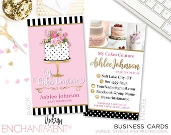 Baker business card etsy baker business cards cake couture cake designer cake decorator cake artist junglespirit Gallery