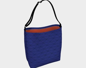Blue & Orange Thatch Day Tote