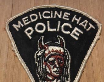 Vintage Medicine Hat Police Patch Alberta  Canada