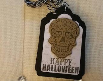 Sugar Skull Halloween Tags