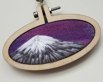 """embroidery necklace """"mountain sunrise"""""""
