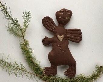 Christmas decor art doll linen angel, eco friendly Christmas decorations