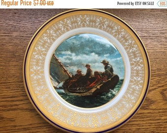 "U.S Bicentennial Society Collector plate Homer Winslow ""Breezing Up"" by lenox"