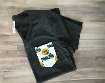 Pocket Tshirt with NFL pocket, Green Bay Packers