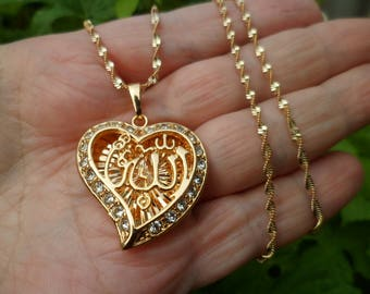 Allah Necklace -Rose Gold - 18 K Gold Plated Islamic Necklace