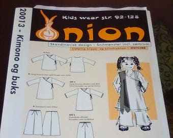 Vintage Onion Kids Wear Pattern Uncut KIMONO OG BUKS Sizes 2-8??