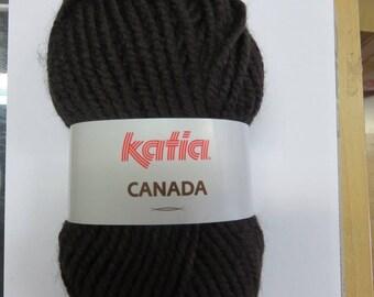 Wool dark brown Katia Canada
