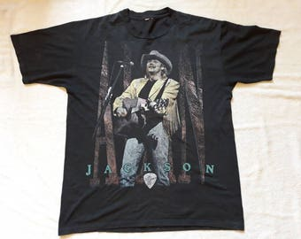 Vintage 90s Alan Jackson Tour Tee . Vtg 1990s Country Music Concert T Shirt Garth Brooks
