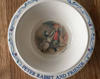 Vintage Peter Rabbit Melamine Bowl