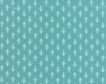 Moda KINDRED SPIRITS Quilt Fabric 1/2 Yard By Bunny Hill Designs - Teal 2893 21