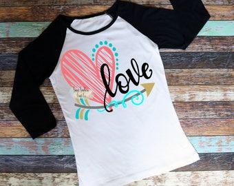 Love Valentine Raglan,Teen Valentine Shirt,Womens Raglan,Tacos,Valentines Day Outfit,Tween Raglan,Birthday Shirt,All You Need Is Love