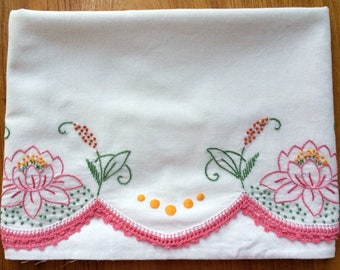 Pillow Case With Water Lilies