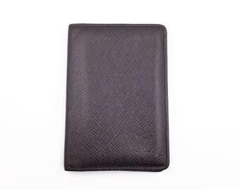 Louis Vuitton Taiga Card Holder Wallet in dark brown M10020