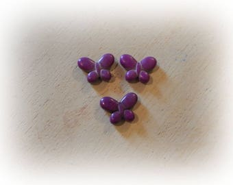 6 beads 19 * 15 mm purple howlite Butterfly