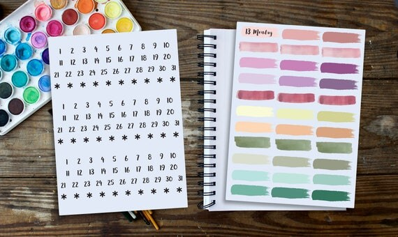 bullet journal stickers sticker kit planner stickers. Black Bedroom Furniture Sets. Home Design Ideas