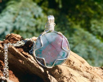 Bloodstone (Heliotrope) Necklace for Spiritual, Emotional, and Physical Healing