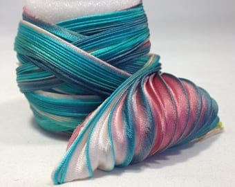 Silk ribbon Shibori N144  Free delivery from  50 dollar...