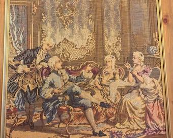 Antique French Gobelin Tapestry Framed