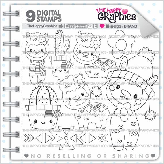 Alpaca Stamp Commercial Use Digi Digital Image