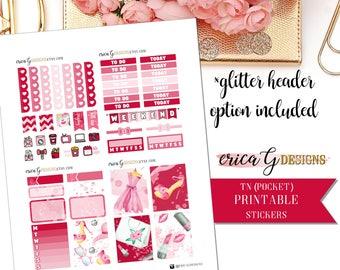 PRINTABLE TN KIT: Love of Beauty/Erin Condren Vertical/Printable/Digital/Weekly Kit