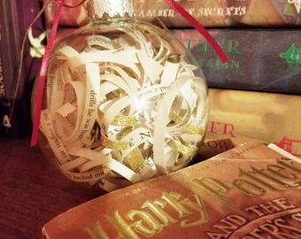 Harry Potter Ornament, Harry Potter Christmas Ornament, Book Ornament, Harry Potter Book, Harry Potter Gift, Harry Potter