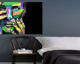 Abstract Portrait on Canvas