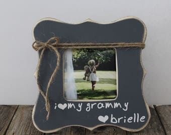 Grammy Picture Frame, I Love Grammy Photo Frame, Grandma Frame, Grey Picture Frame