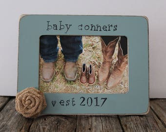 Baby Est. Picture Frame, Ultrasound Frame, Baby Announcement, We're Pregnant, Easter Gift