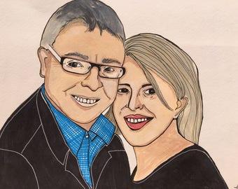 2 people Portraits Illustrations