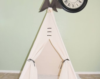 Clearance Ready to ship Heaven Canvas Plain Kids Teepee, Kids Play Tent, Childrens Play House, Tipi,Kids Room Decor