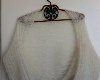 Knitted mohair and silk Bolero