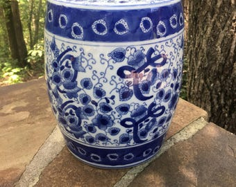 Blue and White Garden Stoll Seat Chinoiserie.