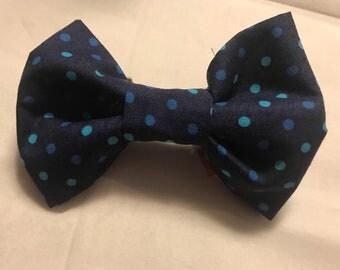 Blue Polka Dot Bow