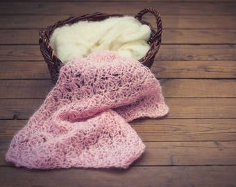 mohair prop/newborn photo layer/baby props blanket/photography blanket/baby photo prop/blanket prop/mohair blanket/pink blanket/pink mohair