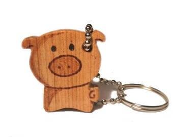 Wood Keychain, TEddy Bear,Wood Bear Keychain, Wood Scroll Saw Teddy Bear Key Ring, Wooden Bear Key Ring, Bear Accessory, Cherry
