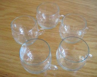 Unique Low Handled Punch Cups-Set of 5 - Item #1211