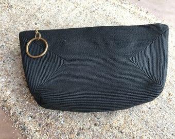 """Vintage Corde clutch purse, vintage purse, 8"""" x 4.5"""" corde purse, 1940's handbag"""