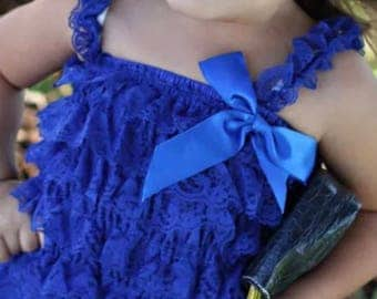 Lace ruffle rompers | 4th of july Outfit | Blues Outfit
