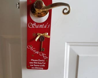 Santa's magic key door hanger