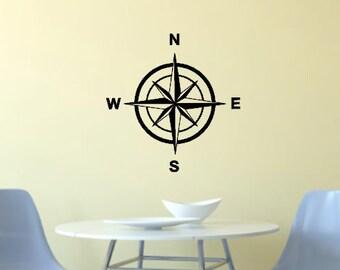 Compass Wall Vinyl Decal Sticker