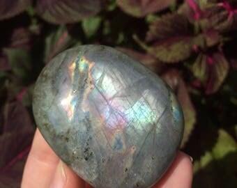 Labradorite Palm Stone (79g)