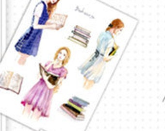 Girl Stickers/ Planner Stickers Scrapbook StickerFashion Study and Ballet Girls