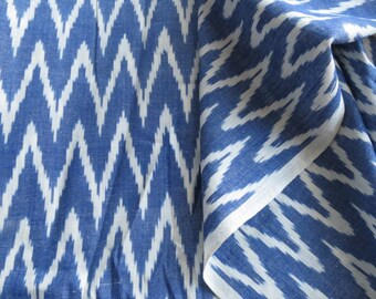 Blue And White Ikat fabric