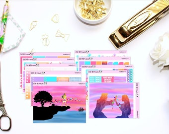 Pocahontas Kit // Planner Sticker for Erin Condren // Heart Checklist, Washi, Checklists, Full Boxes and MORE!!! (300+ Stickers)