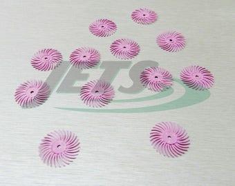 """3m Radial Bristle Discs Pink Pumice Pre-Polish Semi Finishing 3/4"""" Pack 12 Brush (1E)"""