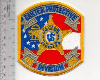 US Secret Service USSS Washington DC President Carter Protective Division Agent Service Patch